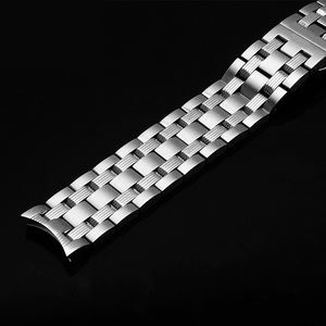 Image 4 - PEIYI watchband 19mm replacement metal bracelet silver stainless steel strap mens and female watch chain for Tissot T065