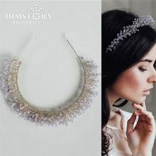 HIMSTORY Handmade Romantic Light Purple Crystal HAirband European Style Girls Wedding Party Headband Hair Accessories