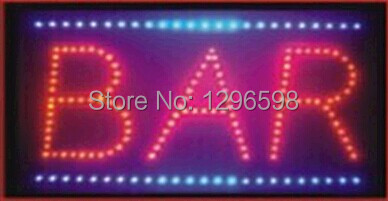 2017 hot sale customed low power 10x19 inch bar store semi-outdoor Ultra Bright running led sign