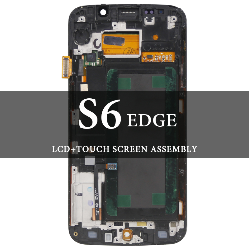 For Samsung Galaxy S6 Edge LCD with Frame 5.1 G925F G925A LCD Blue White Gold Green Display Screen Tested AMOLED DigitizerFor Samsung Galaxy S6 Edge LCD with Frame 5.1 G925F G925A LCD Blue White Gold Green Display Screen Tested AMOLED Digitizer