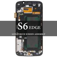 For Samsung Galaxy S6 Edge LCD with Frame 5.1'' G925F G925A LCD Blue White Gold Green Display Screen Tested AMOLED Digitizer