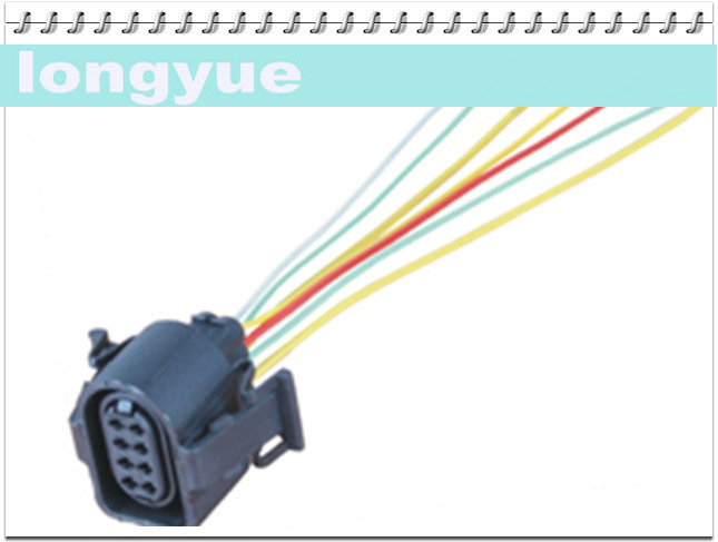 popular pin wire harness buy cheap pin wire harness lots from longyue 2pcs universal 8 pin female pigtail connector automotive wiring harness socket 15cm wire