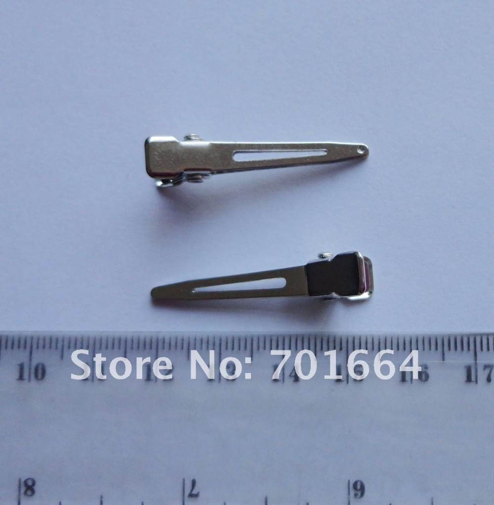50PCS 5.0cm Silver finish Rectangle Plain Metal Snap Clip,Lead free,Nickle Free