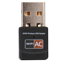 600Mbps Dual Band 2.4Ghz 5Ghz USB WiFi Dongle AC600 Wireless Lan Network Adapter   H7T07