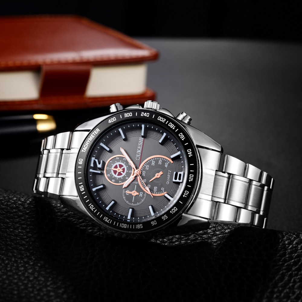 Oukeshi NEW Watch Men Relogio Masculino Quartz Luxury Leather Band Sport Dial Stainless Steel Military Wrist Watch #0531