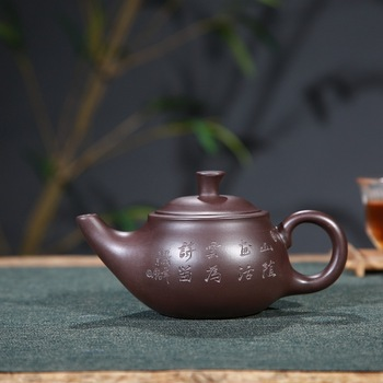 selling wholesale gift box pipe smoke pot authentic double carved painting yixing daily provisions tea kettle