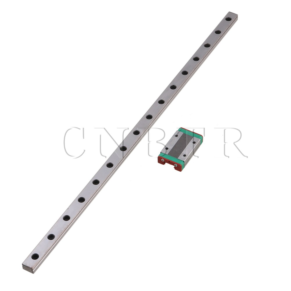 CNBTR 400mm MGN12 Bearing Steel Linear Slide Guide Rail & MGN12H Extension Sliding Block for Precision Measurement Equipment Set cnbtr bearing steel 20cm mgn12 linear sliding guide rail