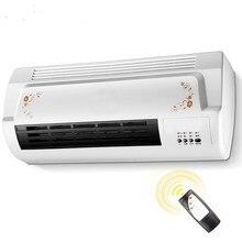 Aquecedor de ar elétrico duplo, ventilador aquecedor térmico de cerâmica e pendurado na parede