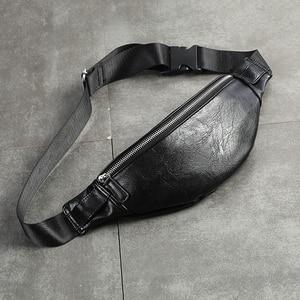 Image 1 - Luxury PU หนัง Fanny Pack เอวกระเป๋าแฟชั่นปรับเข็มขัดชาย Heuptas คุณภาพสูง Bum กระเป๋ากล้วยกล้วย sac