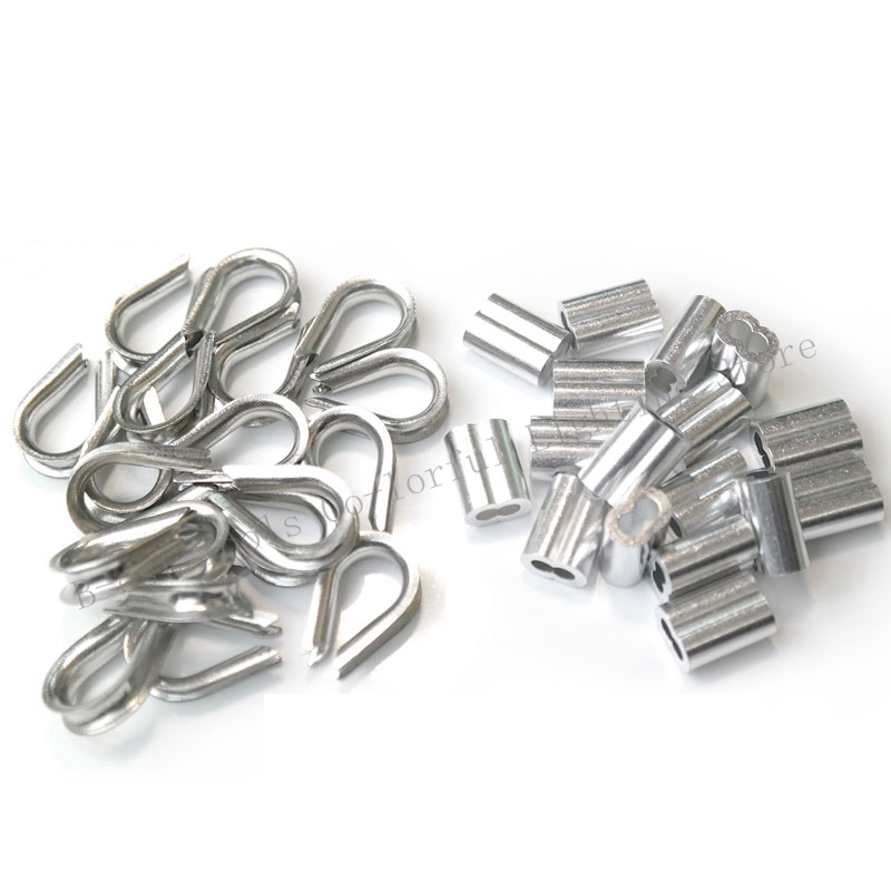 10 x ALUMINIUM FERRULES TO SUIT 3.0MM ROPE WIRE ROPE