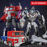 Anime Super Transformation Toys Robot Car ABS Alloy action figure Car Robot Kid Anime Deformation Toy Robot Model birthday gift