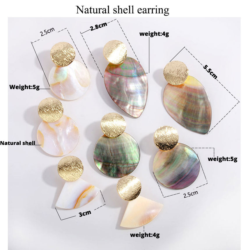 Fashion Wedding Jewelry Hanging Natural Shell Pearl Geometric Earrings High Quality Natural Shell Pendant Earrings for women P40 4