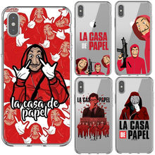 1306690c2fd La casa de papel Tokio Spanish TV Clear Soft Silicone TPU Phone Case Back  Cover For iPhone 5 5s Se 6 6sPlus 7 8 Plus X XR XS MAX