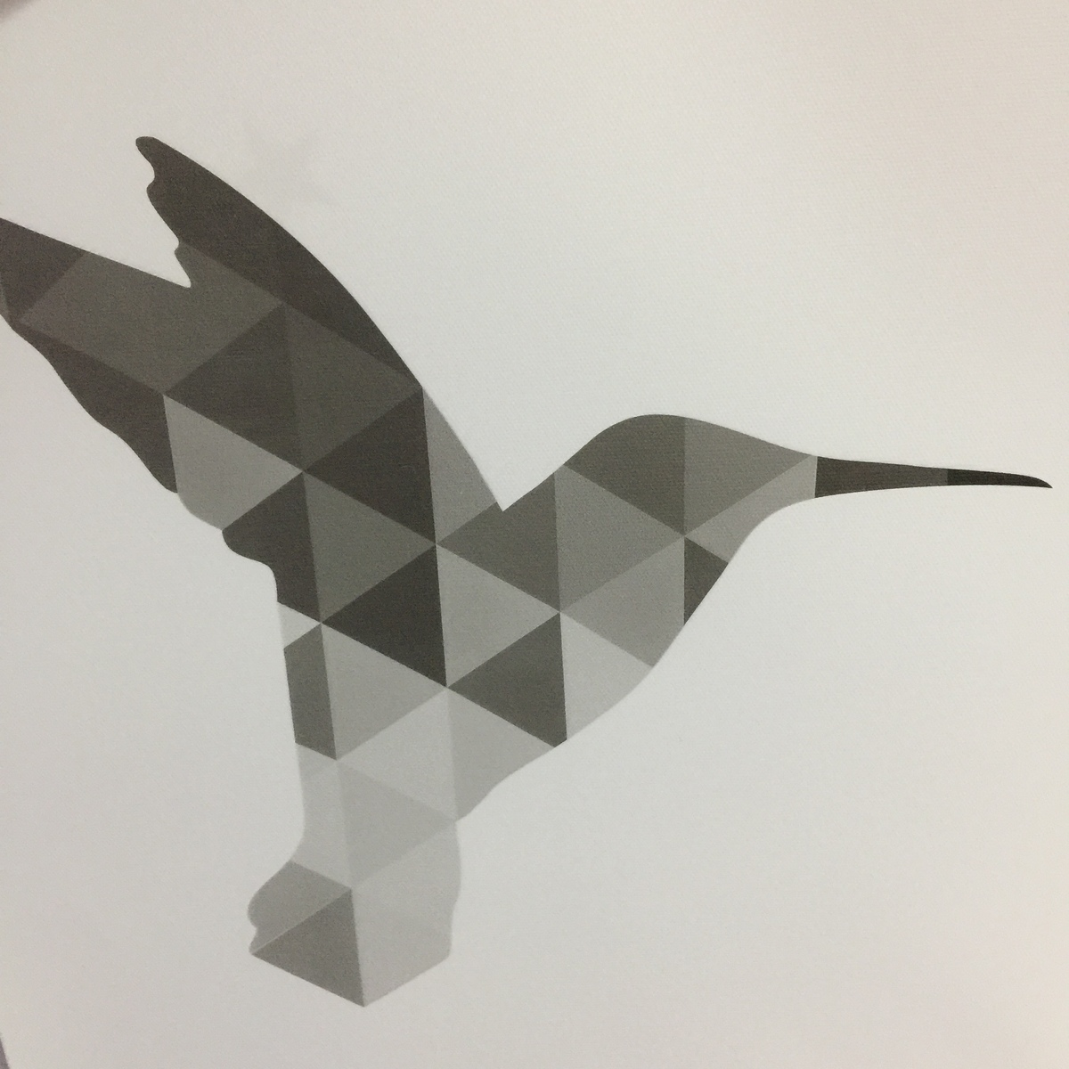 Us 419 40 Offnordic Hummingbird Obrazy Na Płótnie Geometryczne Trójkąty Szary Plakaty Druku Zwierzęta Nowoczesny Obrazy Na ścianę Do Salonu