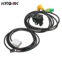 Автомобиль USB AUX аудио-видео кабель переключатель разъем для VW MK6 для Гольф/Jetta CC Passat B6 RCD510 RCD300