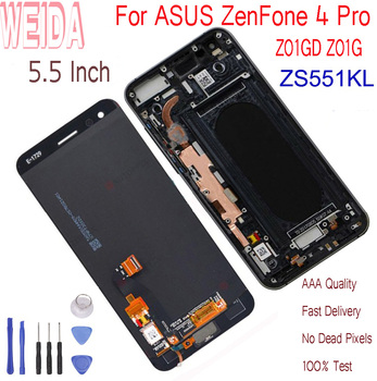 """WEIDA 5.5""""For ASUS ZenFone 4 Pro ZS551KL Z01GD Z01G LCD Display Touch Screen Digitizer Assembly Frame Replacement With Tools"""