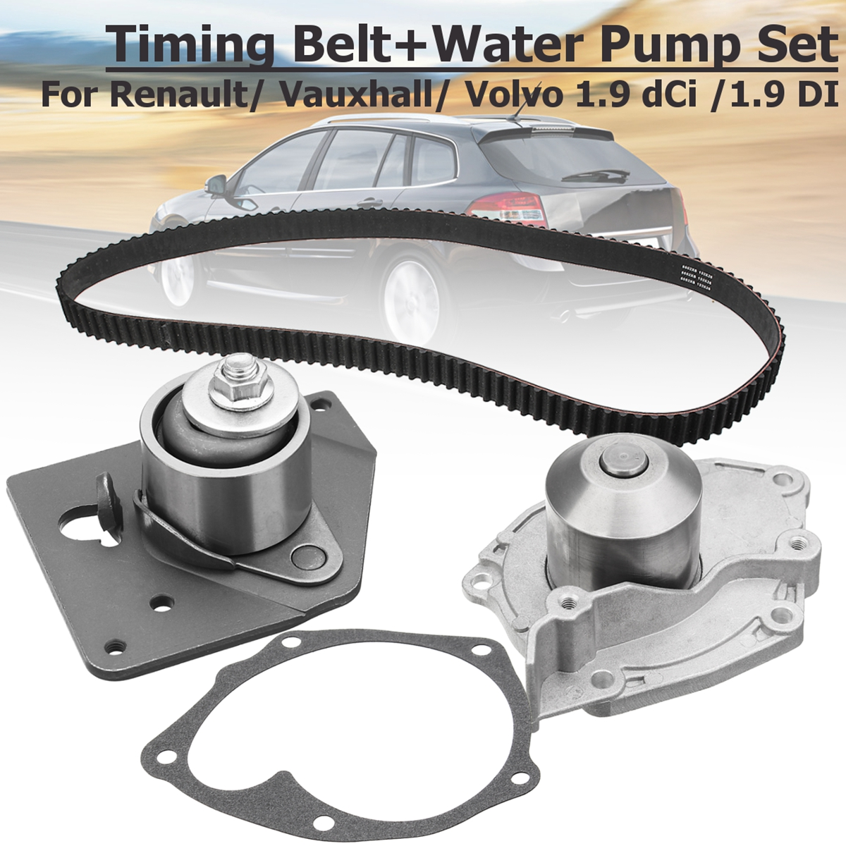 201523385842 GATES KP15552XS Timing Belt+Water Pump Set For Renault for Vauxhall for Volvo 1.9 dCi for 1.9 DI Engines