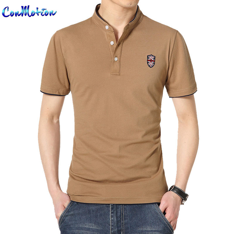 Men's Classic Solid Color Polo Shirt British Flag Embroidery Casual Tops&Tees Brand Clothing(China (Mainland))