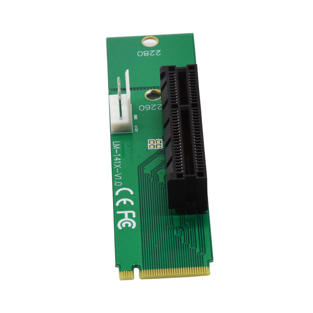 CNKESIN 2017 New Male To Female NGFF M2 M.2 to PCI-E 4x 1x Slot Riser Card Adapter PCIE Multiplier For BTC Miner Mining Machine