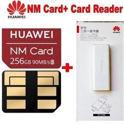 90 MB/s di Velocità Originale di 100% Per Huawei Mate 20/20 Pro/20X NM Carta di 256 GB Nano Scheda di Memoria + huawei 2 in 1 lettore di schede