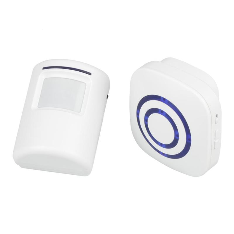 EU Plug 433MHz RF Signal IR Sensor Doorbell Kit Door Chime w/ Transmitters and Receiver Operate w/38 Ringtone for Home Office