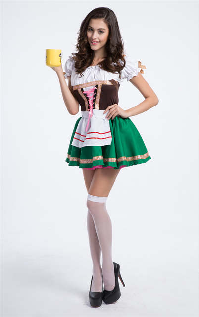 64ce72e6aa91f Halloween mascot Costumes Oktoberfest Beer Maid Waiter Costume Beer Man  Women Bavarian Guy Lederhosen Cosplay Clothing