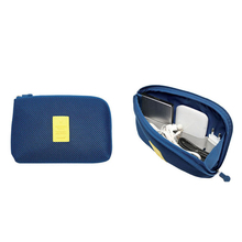 2 Size Travel Data Cable Charger Storage Bag Mobile Power Pack Pouch Bag 3 Color