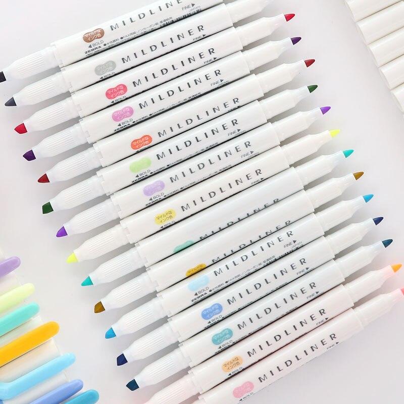 1pcs Japanese Stationery Zebra Mild Liner Double Headed Highlighter Pen Drawing Mark Pen Mildliner Scribble Pen Fluorescent Pen