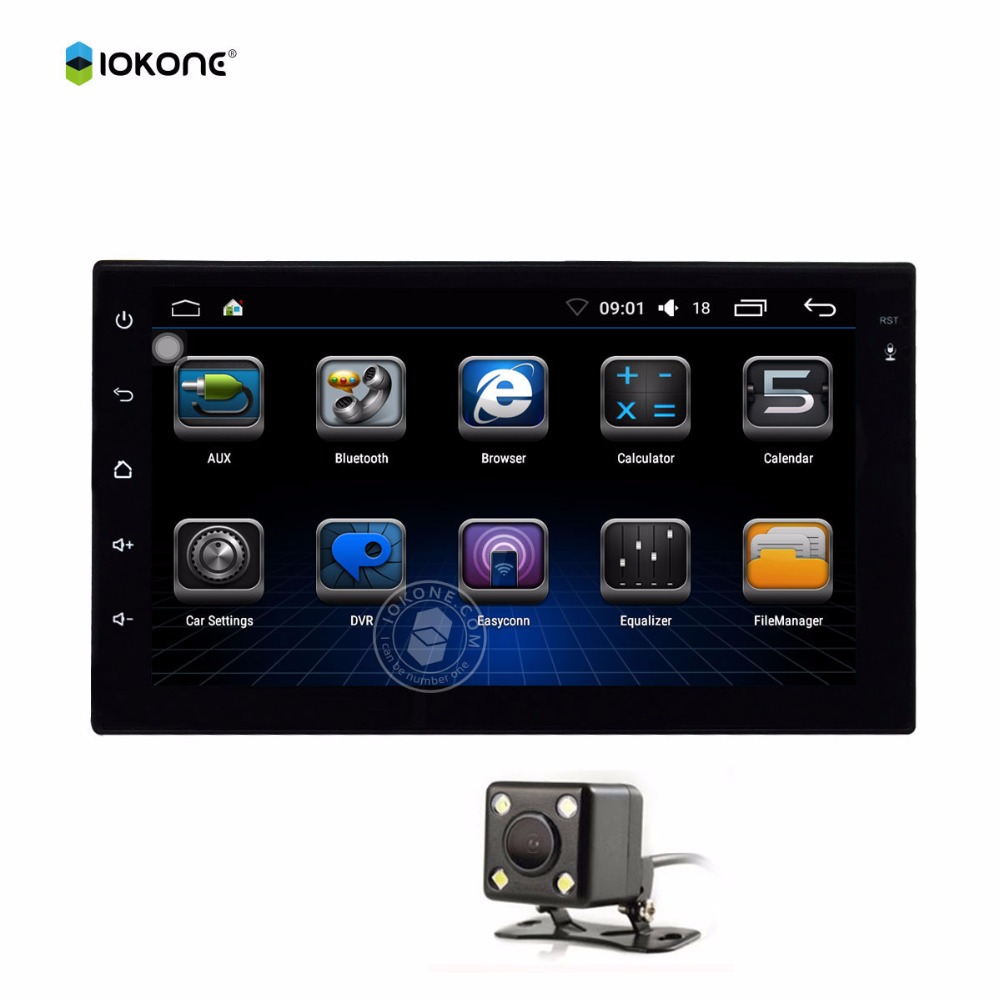 IOKONE Auto car multimedia radio android 6 0 Double Din 7 HD touch screen navigation player
