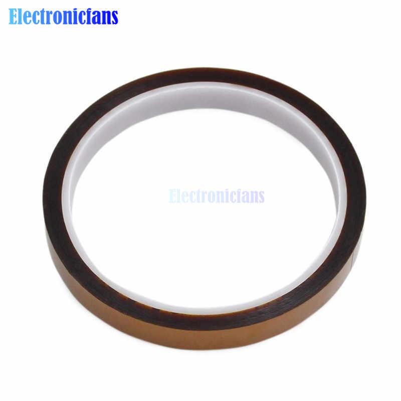 2 Pcs 6 Mm X 33 M 100ft Tahan Panas Perekat Polimida Isolasi Isolasi Tape Roll Suhu Tinggi untuk BGA