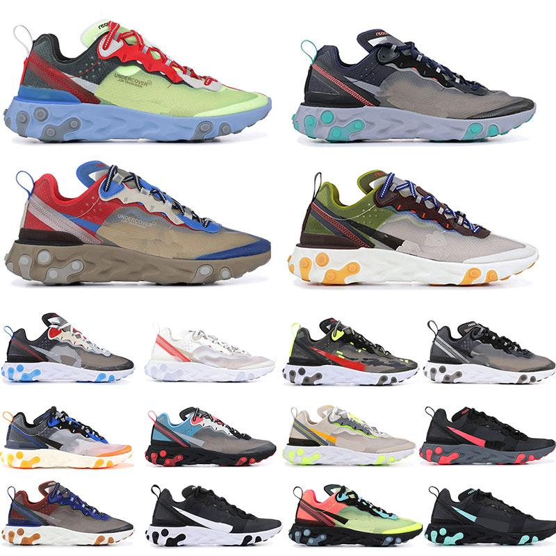 Running-Shoes Sail Sports-Sneakers Light-Bone Undercover React-Element Solar-Anthracite