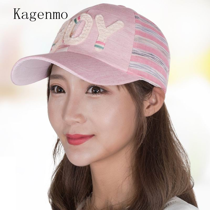 40988c633ed Kagenmo New Women Hat Cap Adjustable Casquet Female Baseball Cap Summer Hip  Hop Dad Hat Cute Bone Fashion Pink Cap