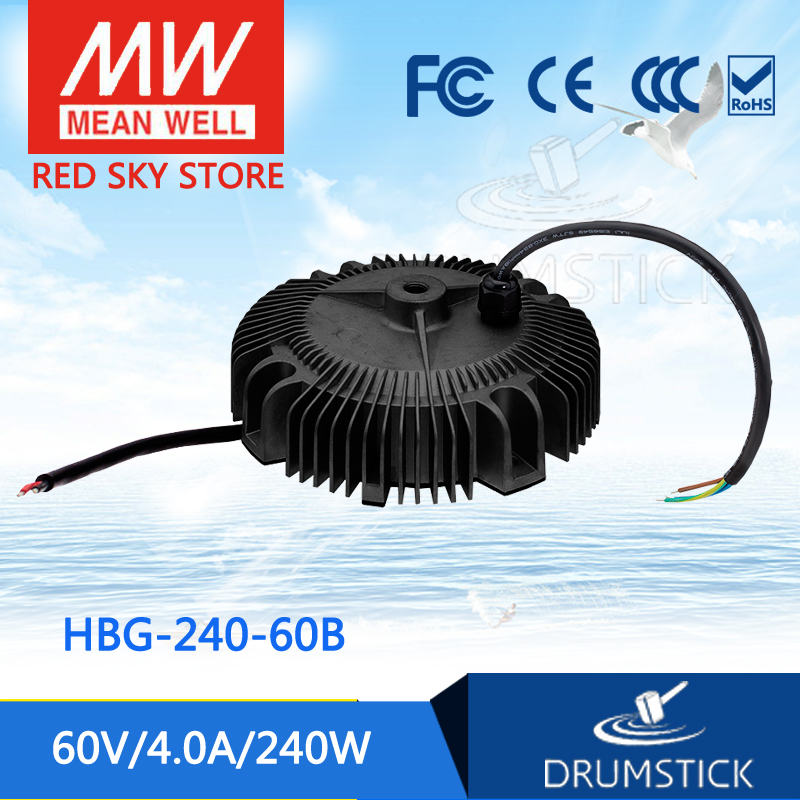 Hot sale MEAN WELL HBG-240-60B 60V 4A meanwell HBG-240 60V 240W Single Output LED Driver Power Supply [ba]mean well original hbg 240 48a 1pcs 48v 5a meanwell hbg 240 48v 240w single output led driver power supply