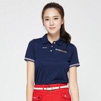 Golf Shirts Women Brand Short Sleeve Girls Shirts Summer Colorful Top Golft Polo Shirt 4 Colors