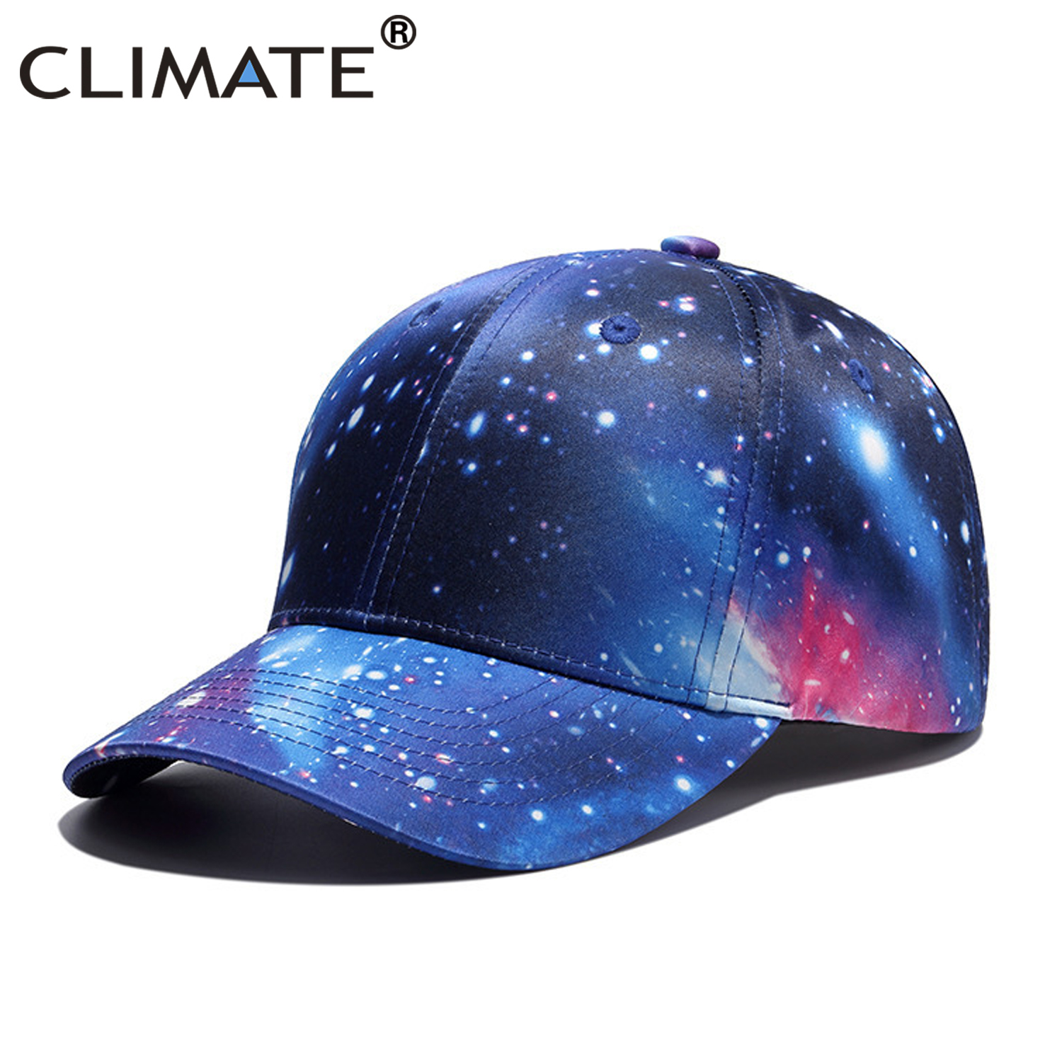 separation shoes e08eb c6fd5 CLIMATE 3D Printing Baseball Cap Hip Hop Street Style Cap Hat Rapper Outer  Space Galaxy Caps