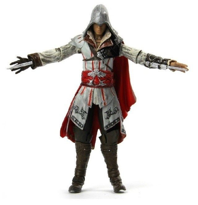 Free shipping 7inch NECA ASSASSINS CREED 1 2 3 generation Ezio Altair Hartel PVC Action Figures Model collection toy