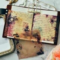 YPP HANDWERK 10 stücke Vintage Pergament selbstklebende Aufkleber für Scrapbooking Glücklich Planer/Kartenherstellung/Journaling Projekt
