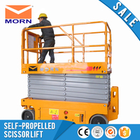 Electric scissor lift self propelled loading cheap lightweight auto mobile elevated indoor outdoor battery powered factory price
