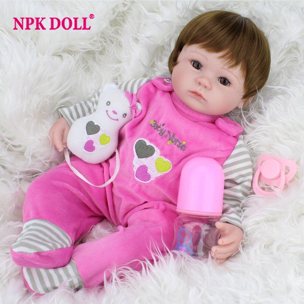 40 cm Silikon Reborn Baby Puppe kinder Playmate Geschenk Für Mädchen 16 zoll Baby Lebendig Weiche Spielzeug Für Bebe Reborn brinquedo Großhandel