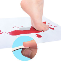 Halloween Bloody Bath Mat Color Changing Sheet Turns Red Wet Make You Bleeding Footprints bathroom carpet rug home decoration 8. 4