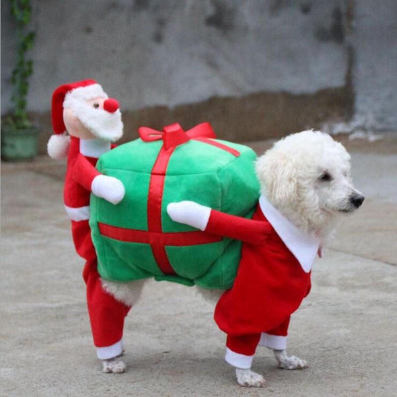 1xpcs dog coat. 3588959634_1172365047 3590056022_1172365047  3590640561_1172365047 K3 QQ20170627115821 QQ20170627115849 - MISS DOGGY Santa Claus And Elk Design Funny Pet Dog Costume