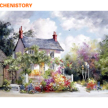 Frameless Small House Abstract DIY Painting By Numbers Kits Coloring By Numbers Oil Painting On Canvas Landscape Home Wall Decor(China)