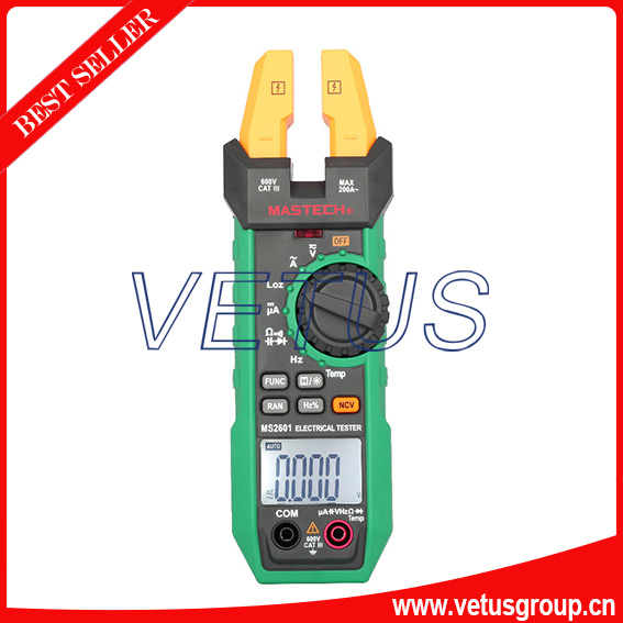 MS2601 Digital AC/DC Fork Meter clamp meter with Frequency Duty Cycle Temperature tester uyigao ua6050a 3 1 2 ac digital clamp meter 1500a with ncv