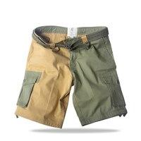 2017 algodón bicolor cargo hombres escalada Shorts de senderismo multi bolsillo al aire libre deporte ocio corto Monos suelta trekking Pantalones