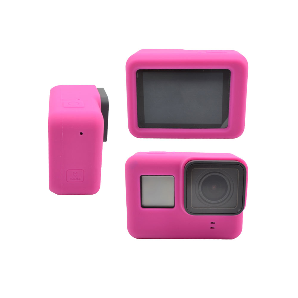 Image 5 - For Go Pro Accessories Action Camera Case Protective Silicone Case Skin +Lens Cap Cover For GoPro Hero 5 6 7 Black Hero Camera-in Sports Camcorder Cases from Consumer Electronics