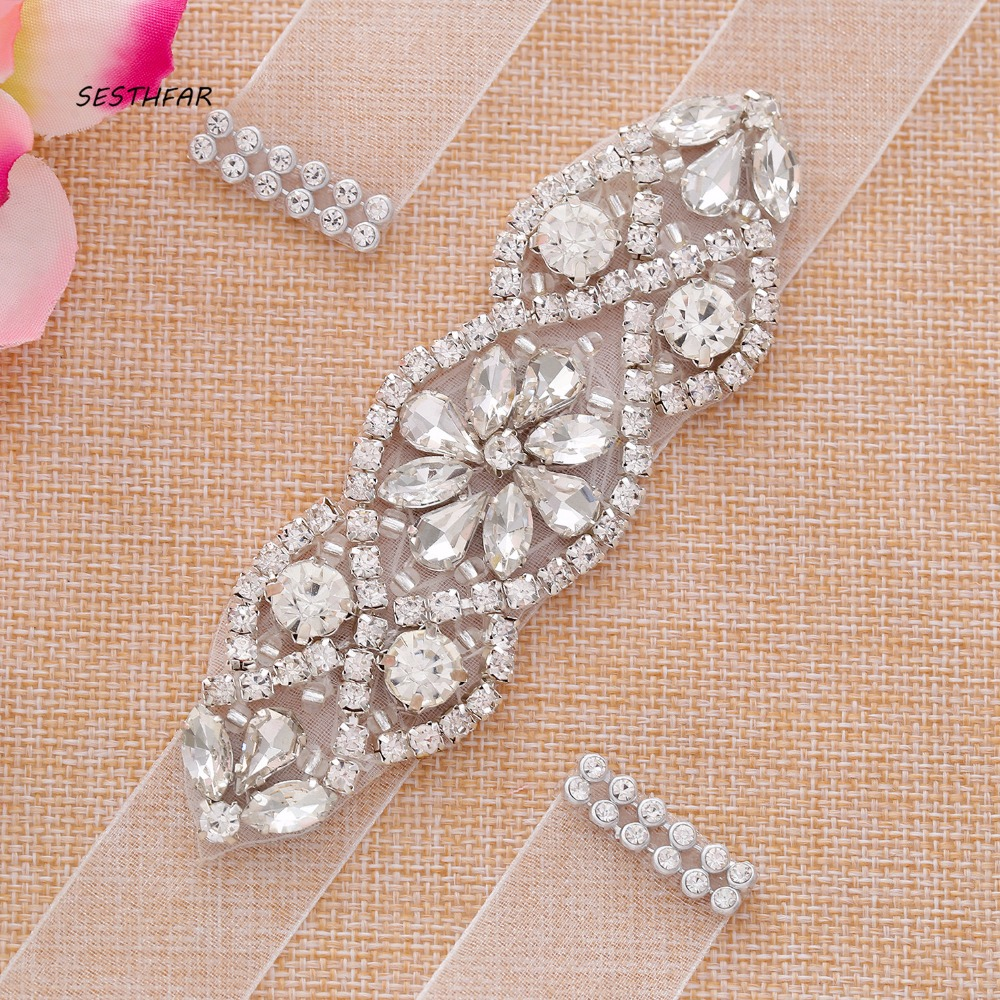 Bridal Belt Rhinestone Wedding Belt Crystal Wedding Dress Sash For Wedding Party Dress Accessories J102S Cinturon Novia