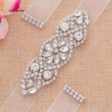 Bridal Belt Rhinestone Wedding Belt Crystal wedding dress Sash For Wedding Party dress accessories J102S cinturon novia