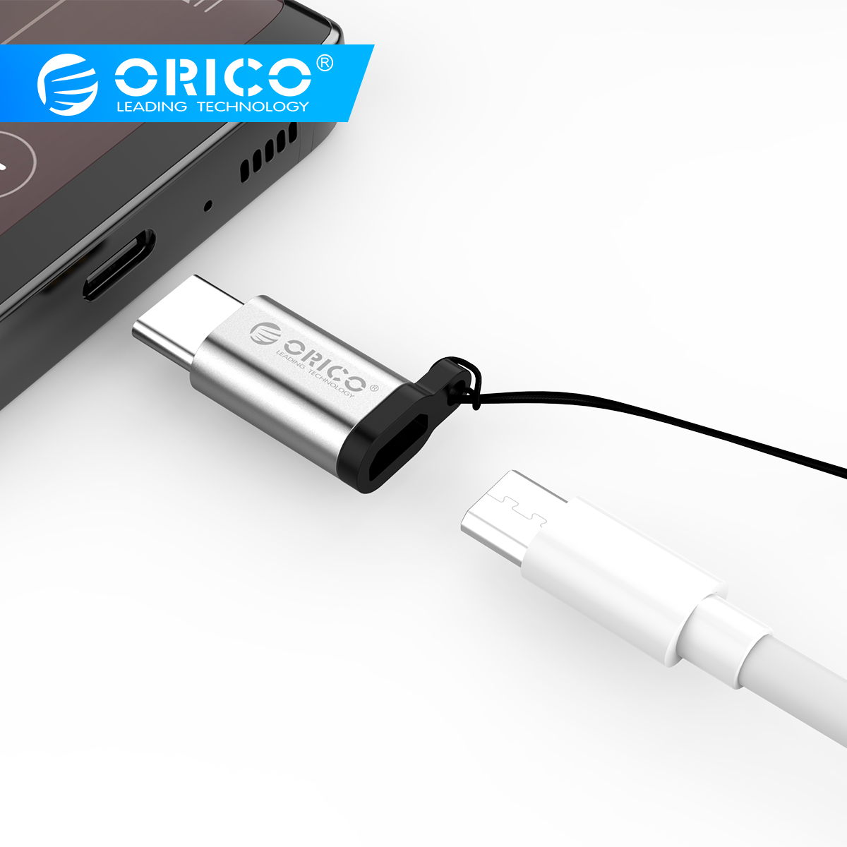 ORICO OTG Micro USB To Type C Adapter Aluminum Alloy USB Type-C OTG Adapter For Charging Data Transmission For Huawei Adaptador