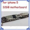 Para iphone 5 5g 32 gb motherboard 100% placa original placa lógica de função completa gsm unlock versão 1000% de boa qualidade