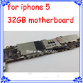 for iphone 5 5G 32GB motherboard 100% Original mainboard full function logic board GSM version 1000% good quality unlock